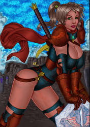 CP_136 - Squire Beatrice by LCFreitas Coloured by noitcartsbalatot