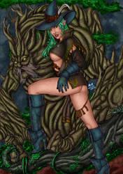 CP_145 - Elf Sorcerer Ravna by LCFreitas Coloured by noitcartsbalatot