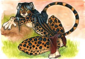 Anthro-Africa: King Cheetah by shiverz