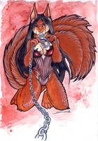 Furry Halloween - Red Squirrel by shiverz