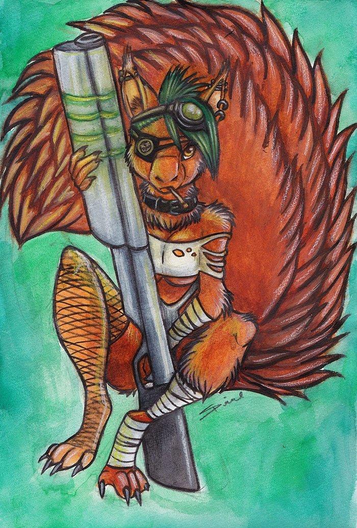 Post Apocalyptic Squirrel by shiverz