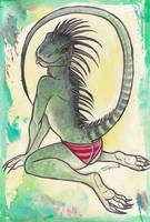Iguana - Tongue by shiverz