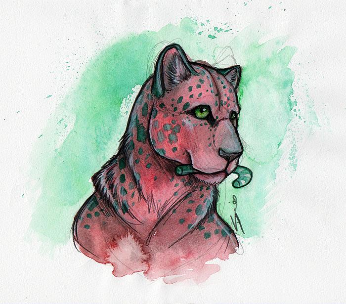 Xmas Leopard by shiverz