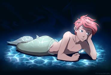 Bored [Ariel Genderbend] by SorceressDream