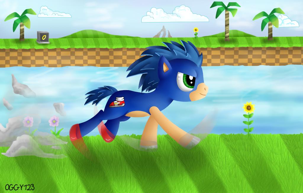 Sonic - Pony by Oggynka