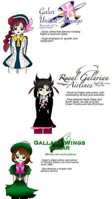 Pokemon Galar Girls Flight Attendants