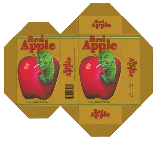 Red Apple Cigarettes - Design by Apfeistrudel