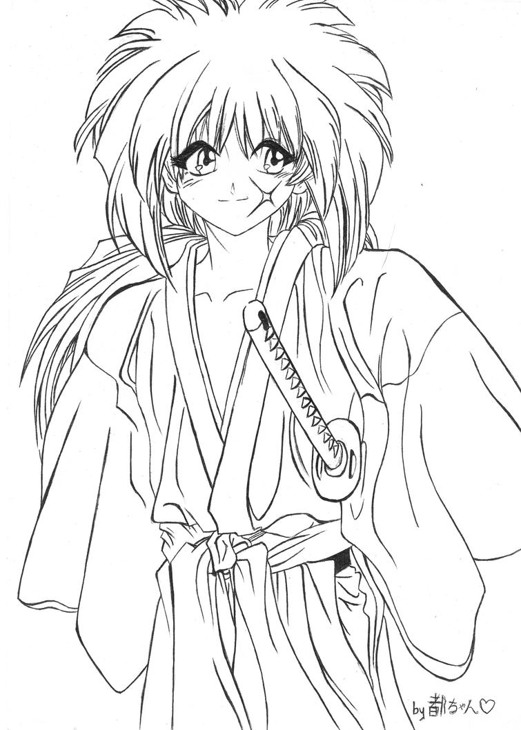 coloring pages for rurouni kenshin - photo#32
