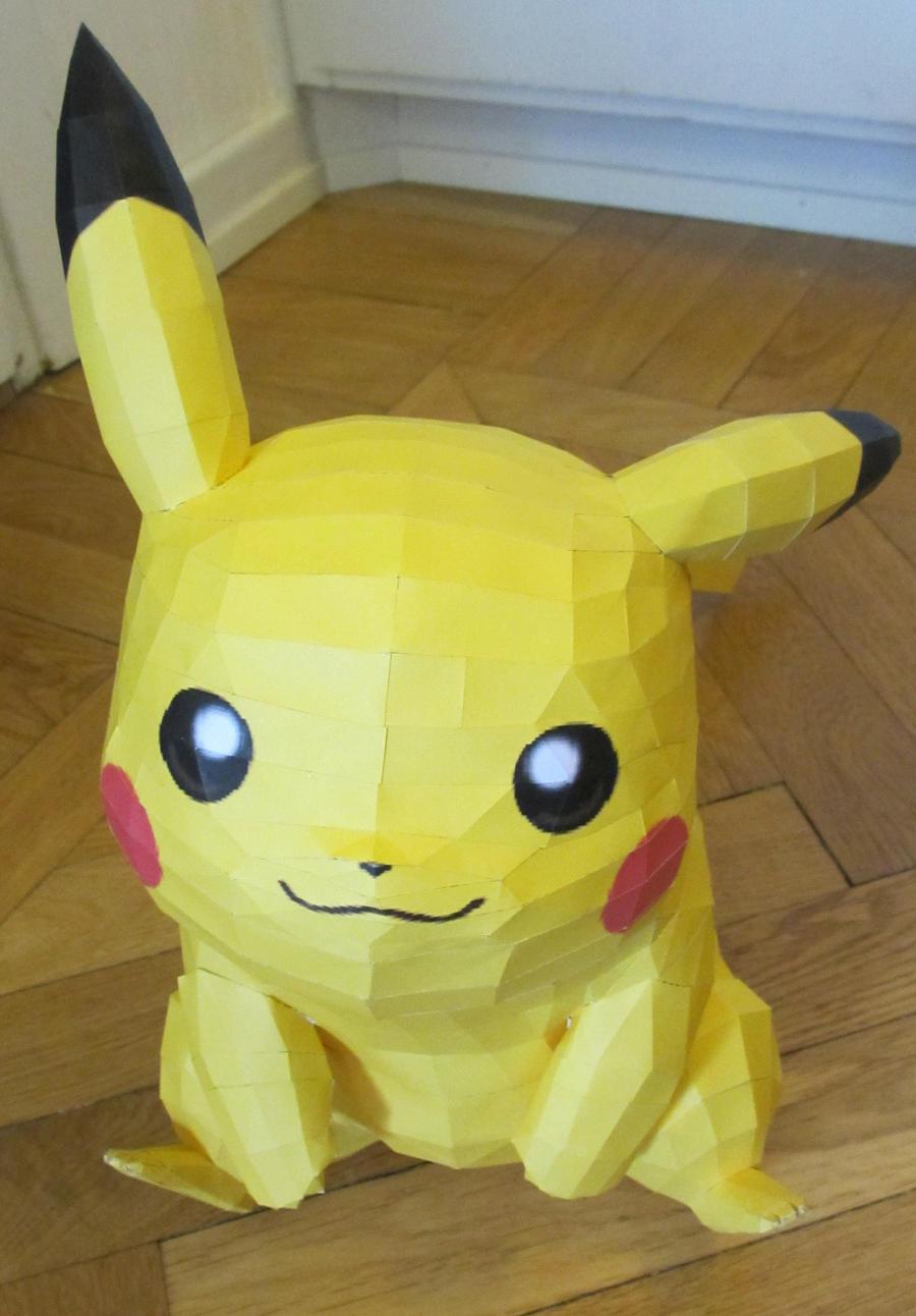 pikachu front by minidelirium