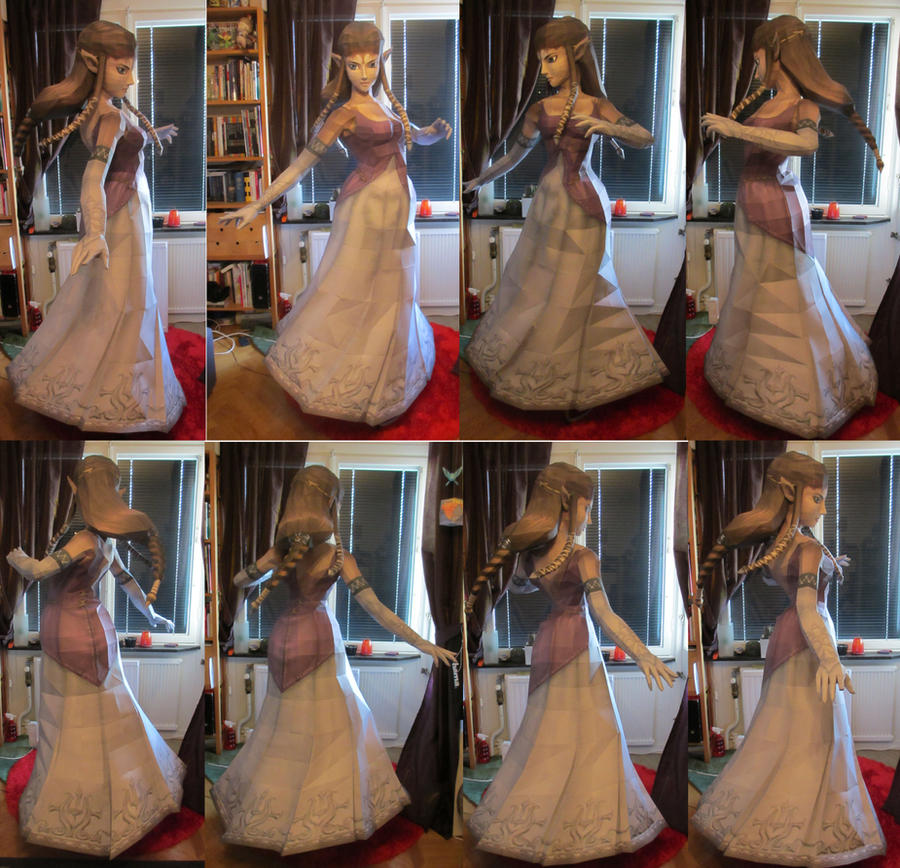 life size zelda without jewlery papercraft by minidelirium