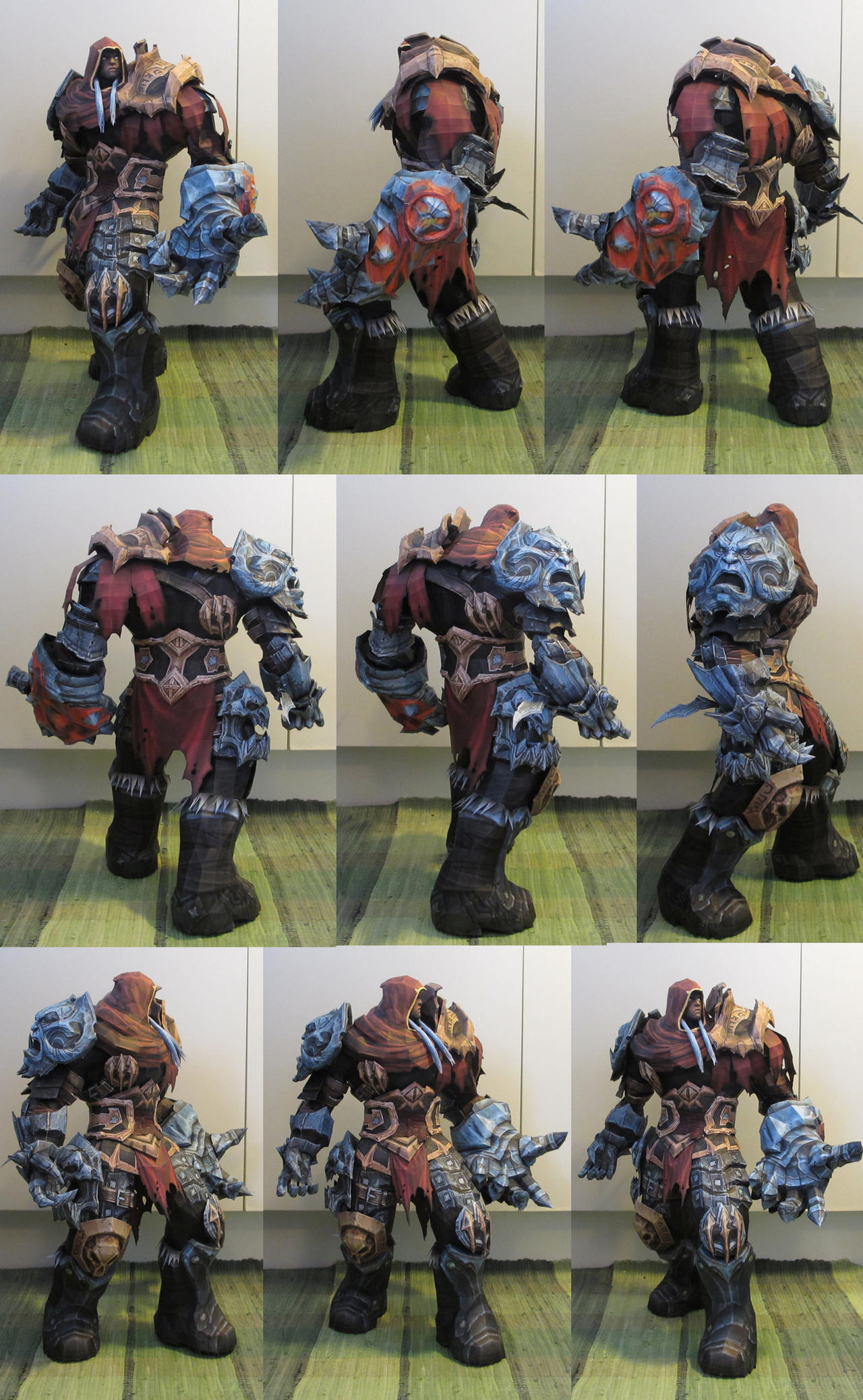 War from Darksiders papercraft collage by minidelirium