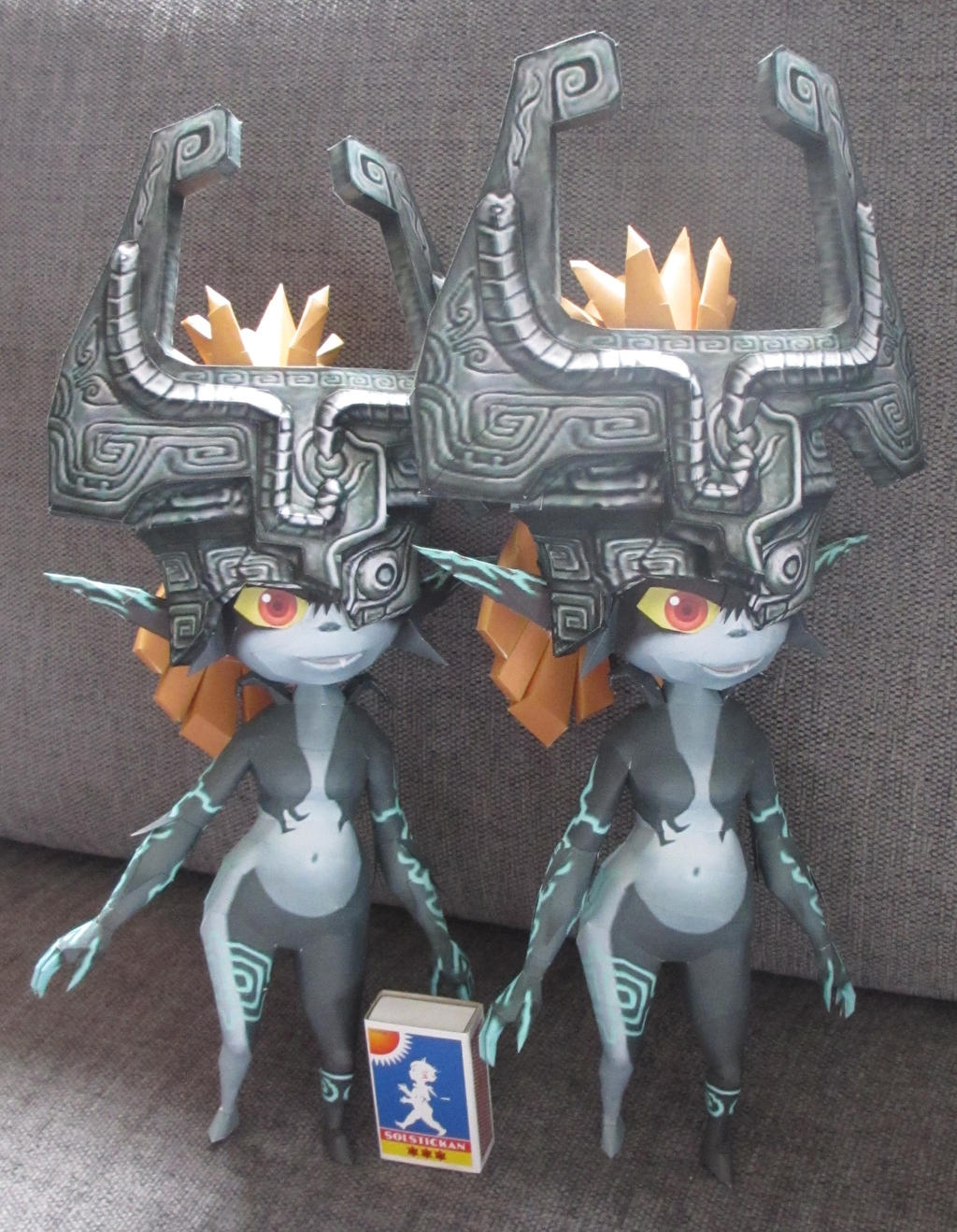 Midna papercraft twins by minidelirium