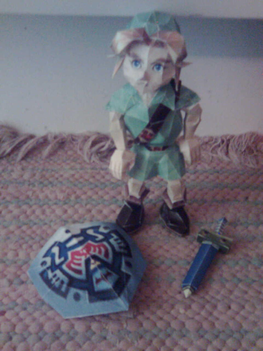 blast from the past - OoT young link papercraft by minidelirium