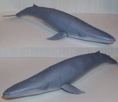 Blue whale papercraft