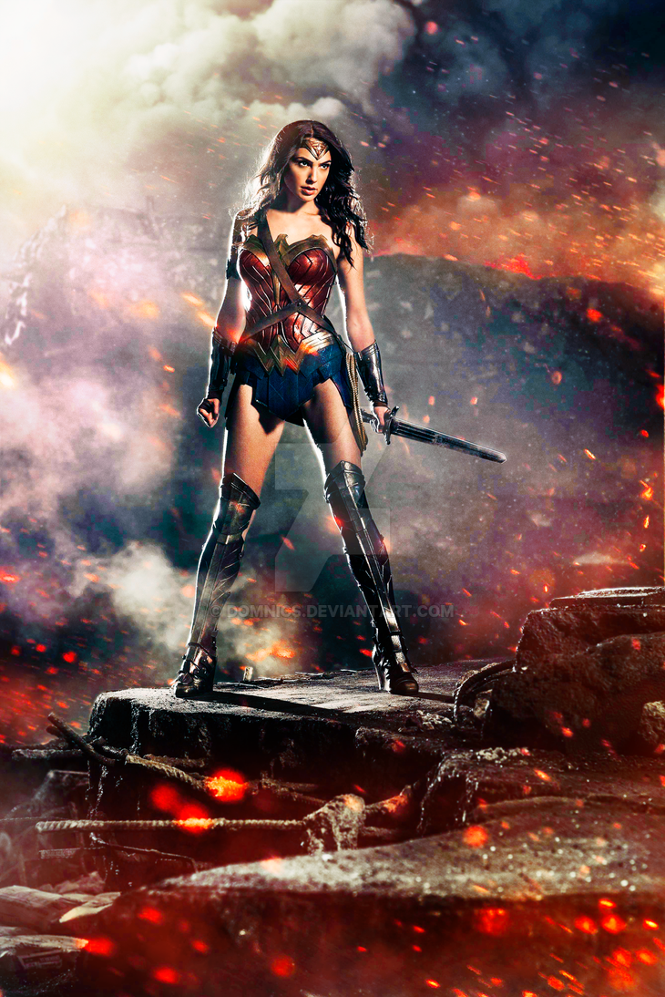 DAWN OF JUSTICE 2016 Wonder Woman Poster Recolor By Domnics