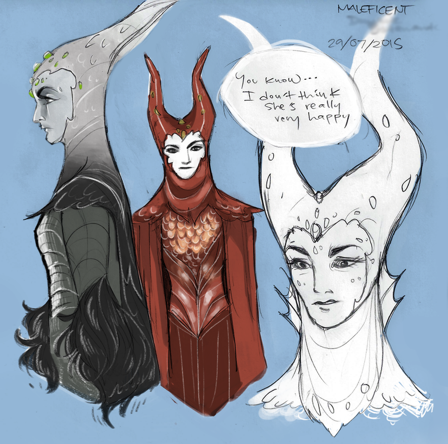 Maleficent doesn't know anything about love by LamourDanimer