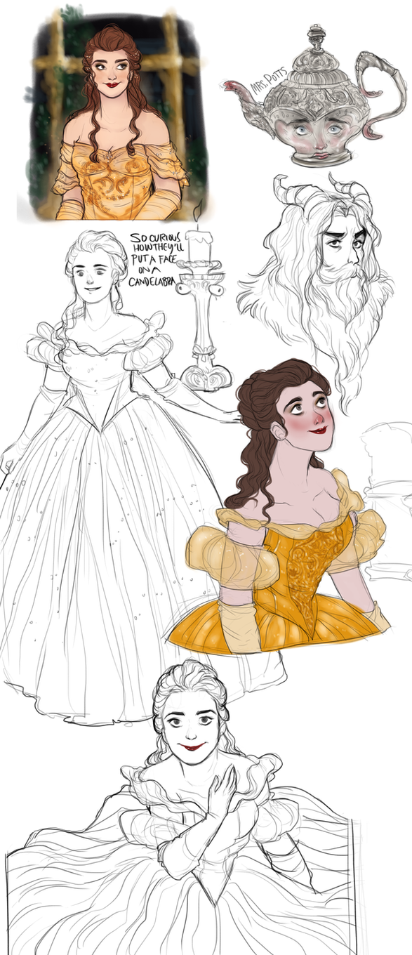 Beauty And The Beast 2017 Sketchdump By Domnics