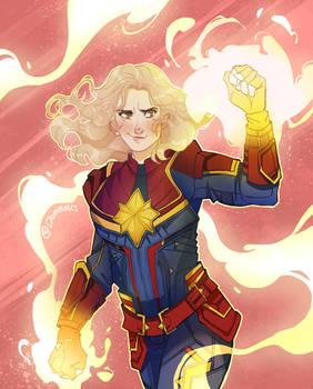 Captain Marvel by Domnics