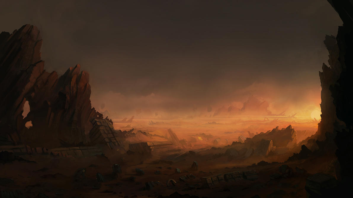 Desert Ruins by JJcanvas