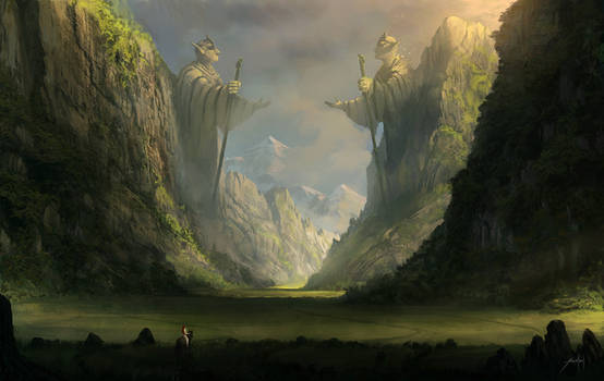 Through the ancient valley