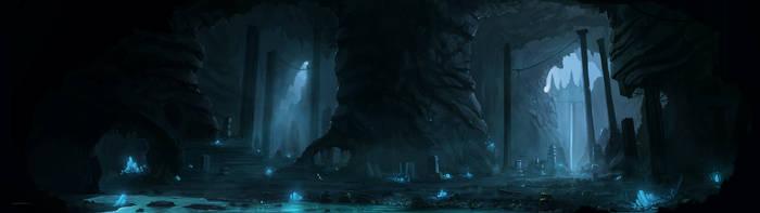 Ruins - Panoramic by JJcanvas