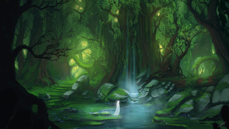 Enchanted Lake by JJcanvas