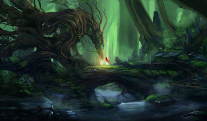 Forest Guardian by JJcanvas