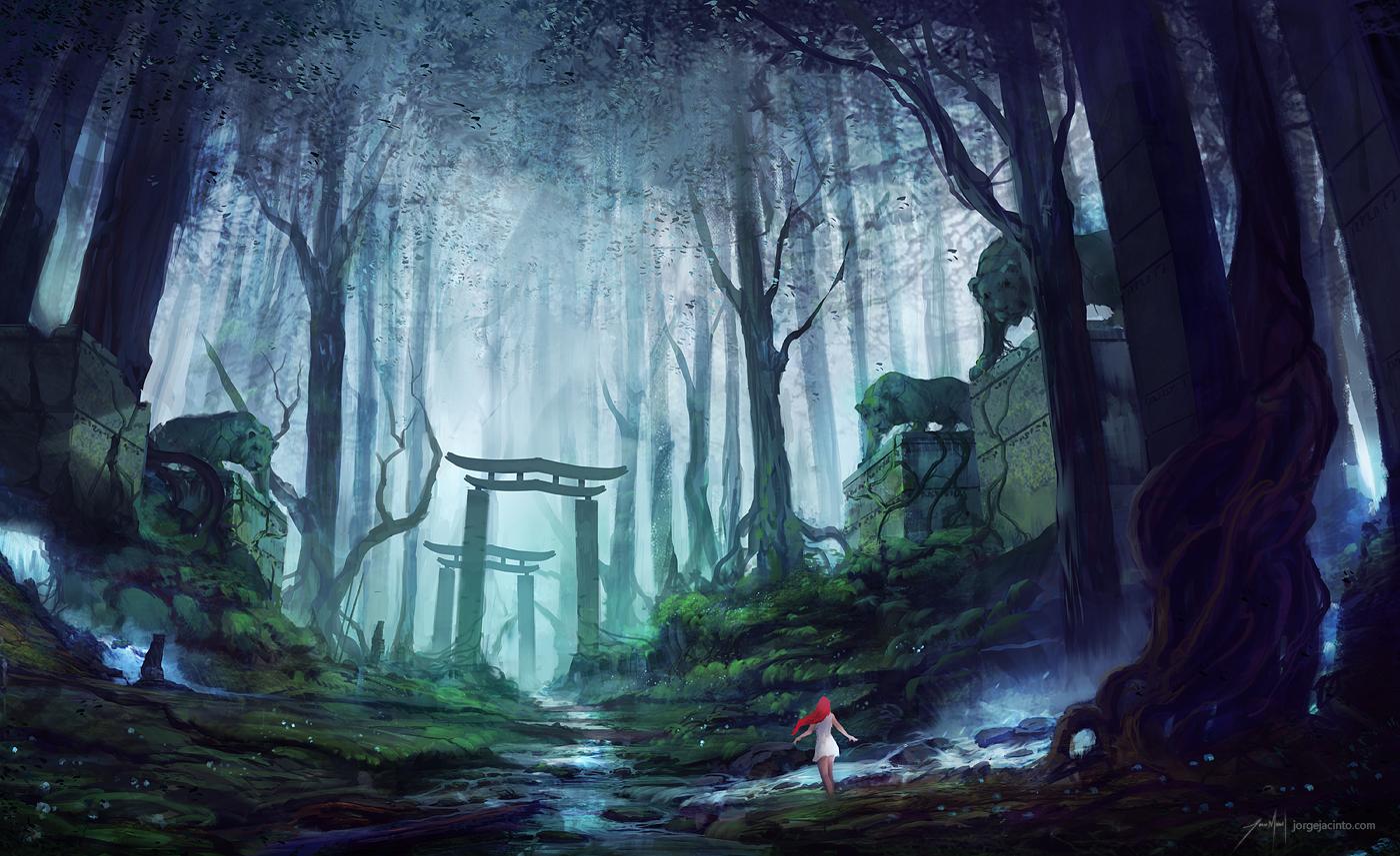 Streamside Daydream by JJcanvas