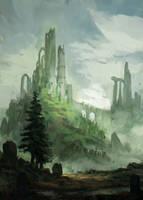 Landscape Sketch I by JJcanvas