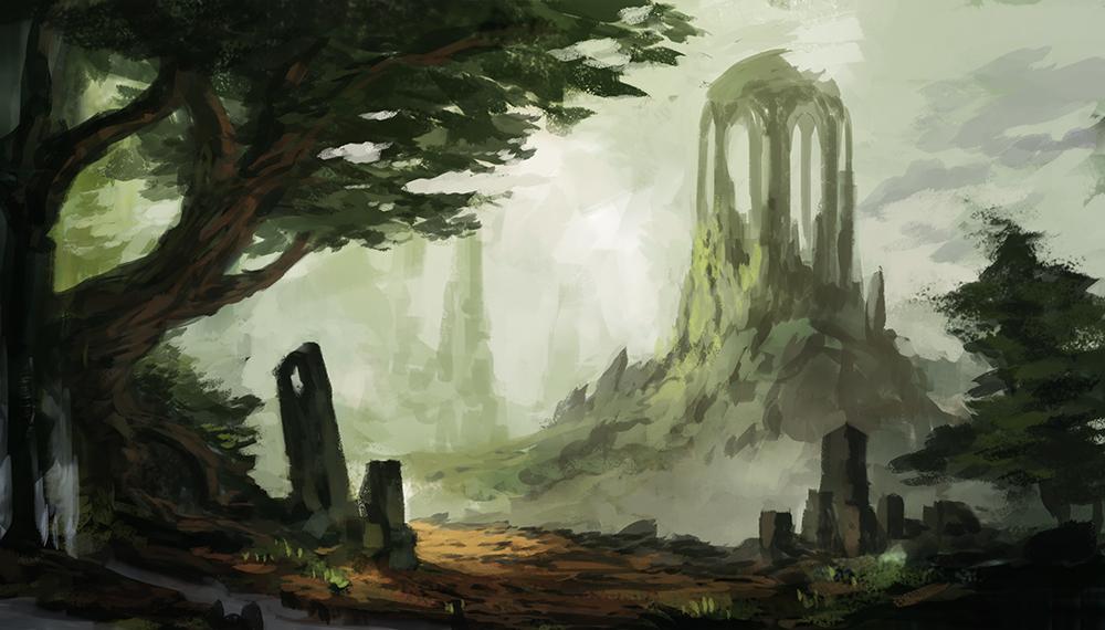 Landscape Sketch II by JJcanvas