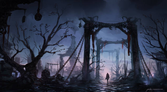 Ruins - Environment Sketch