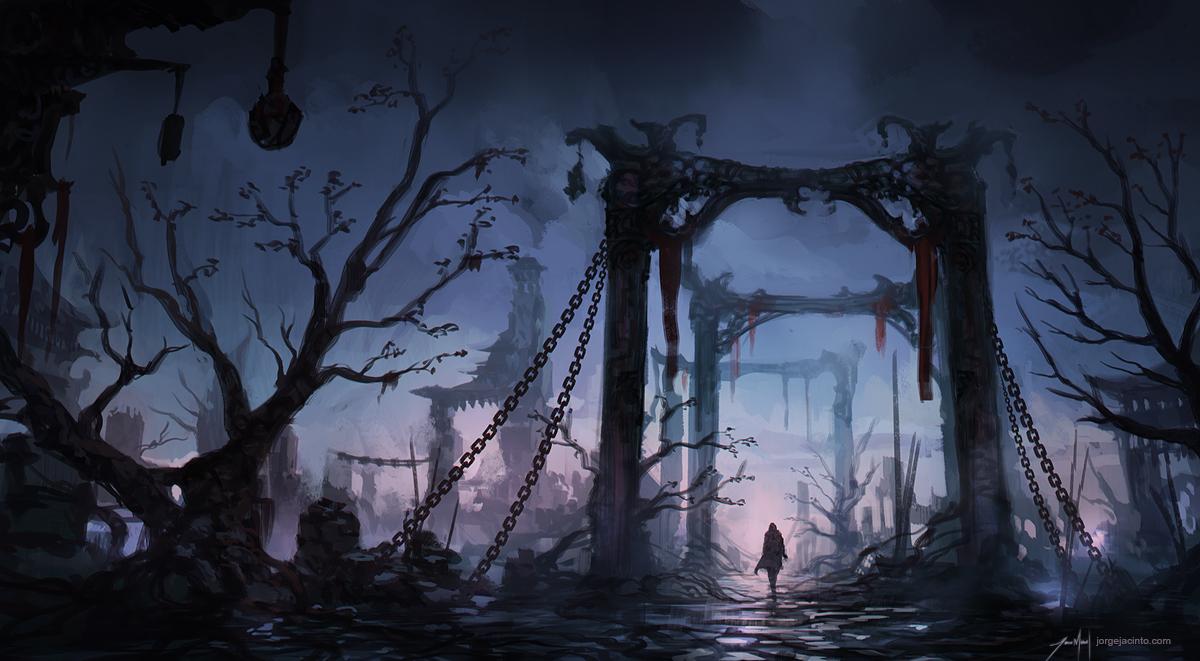 Ruins - Environment Sketch by JJcanvas
