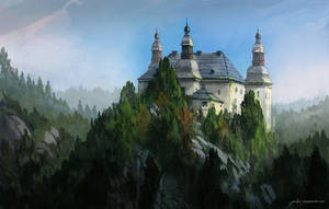 Castle - landscape sketch by JJcanvas