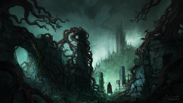 Dark Fantasy Ruins II ( w/ process time-lapse)