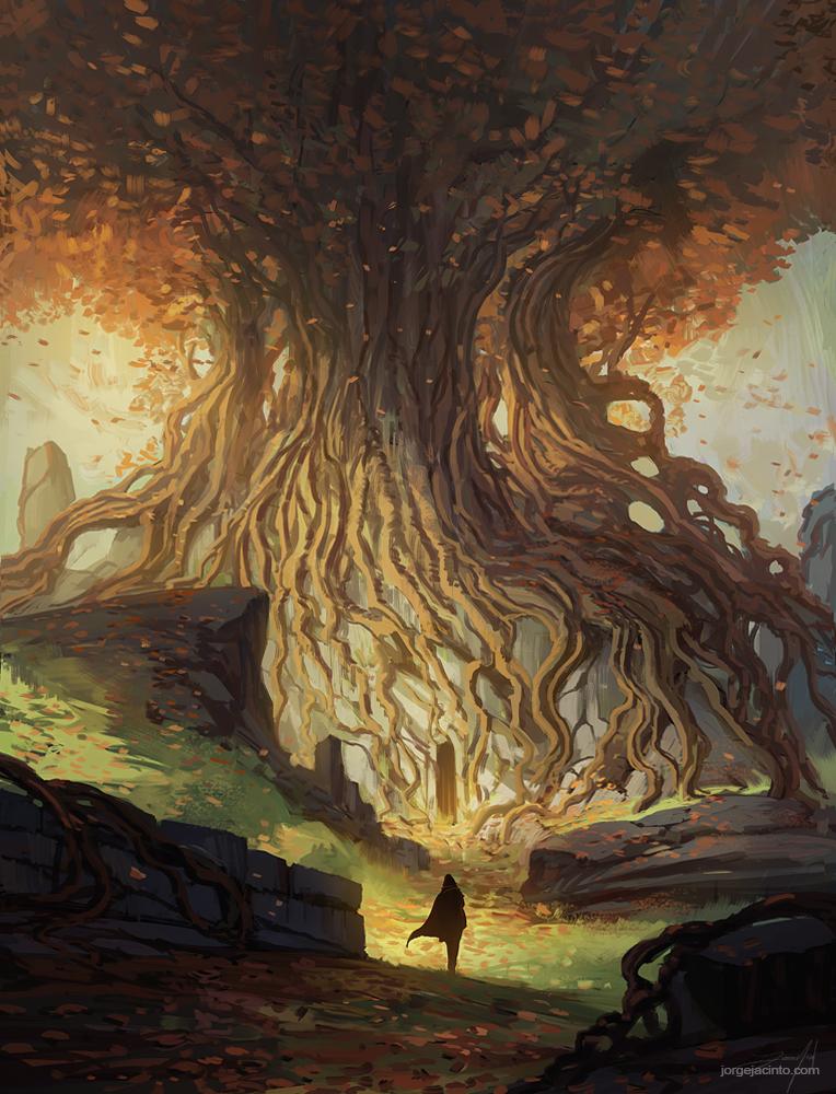 The Golden Tree by JJcanvas