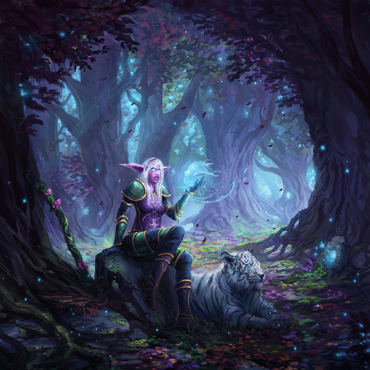 Nightelf explore nightelf on deviantart night elf huntress by jjcanvas nvjuhfo Choice Image