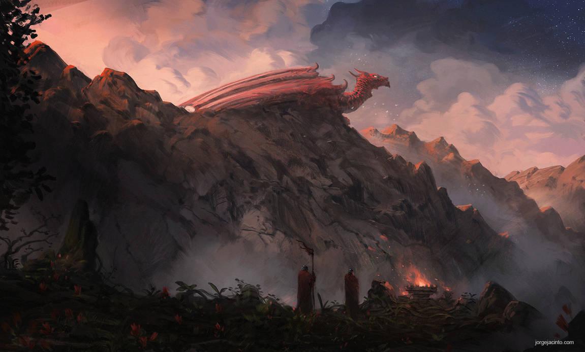 Dragon Peak by JJcanvas