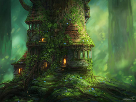 Cozy Little Place III by JJcanvas