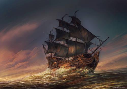 At Sea by JJcanvas