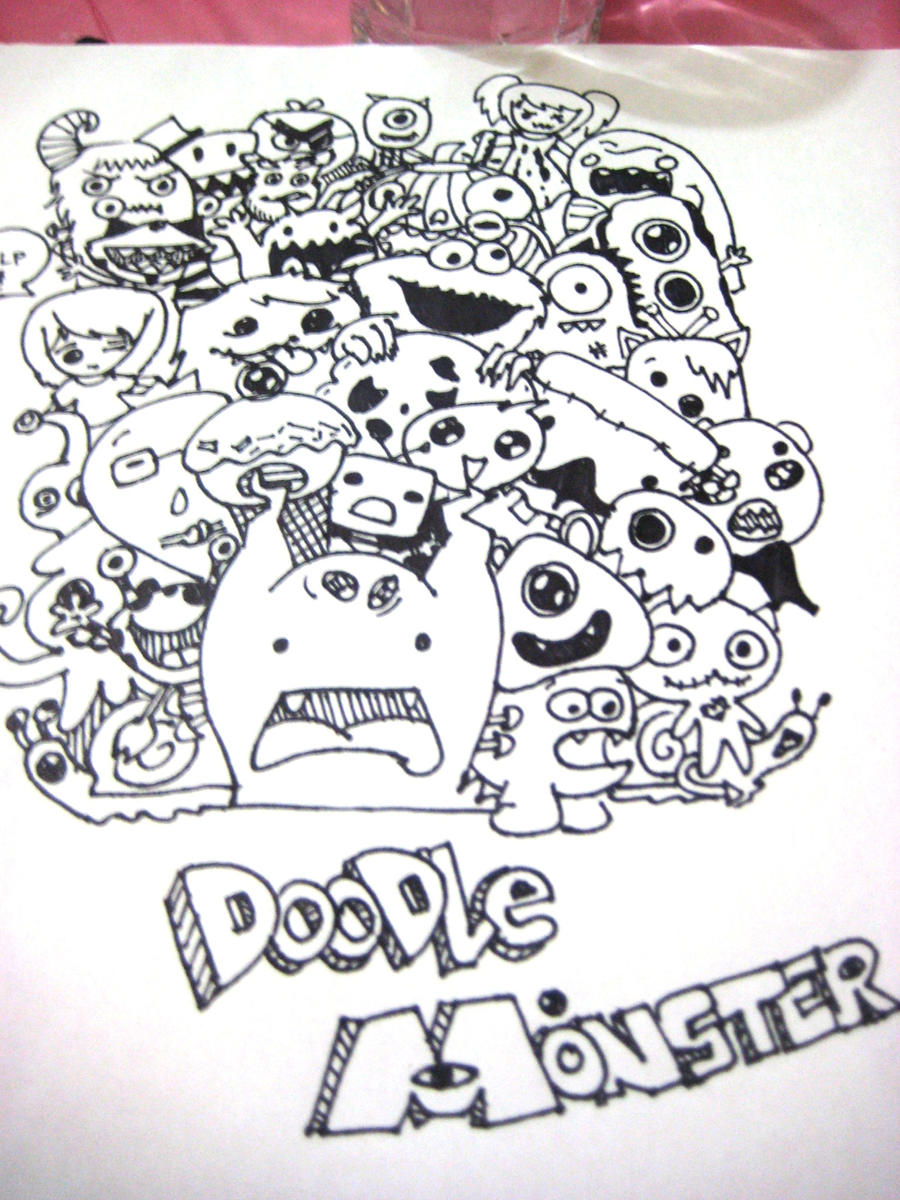 Doodle monsters by lovecraftwitcheart on deviantart for Doodle art monster