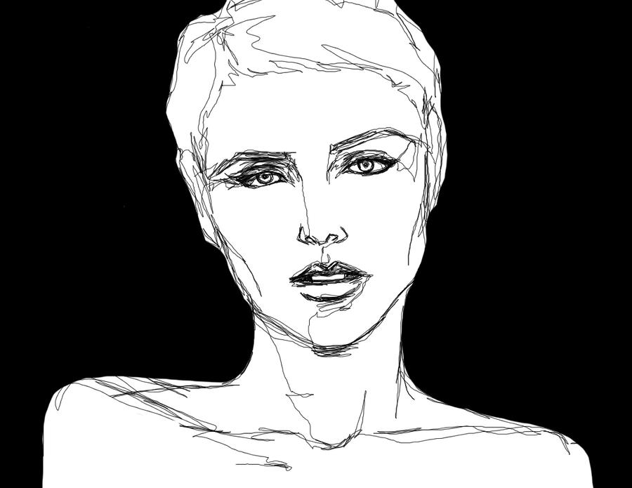 Black and white illustration by koolaid jammer