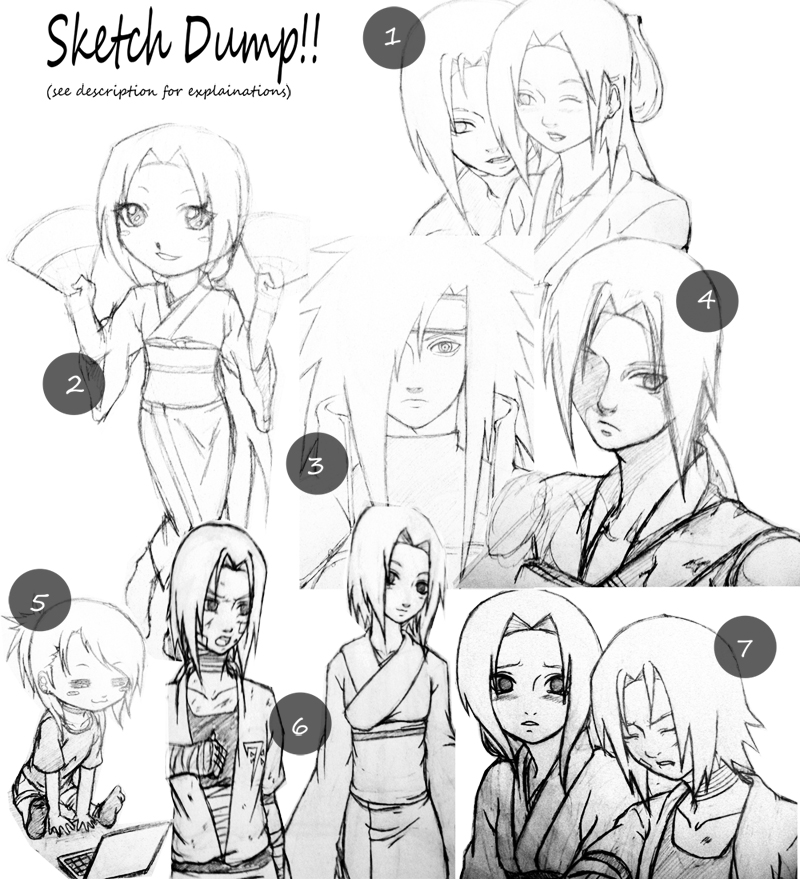 Sketch Dump: Upcoming Art by Shirayuki-no-Mai