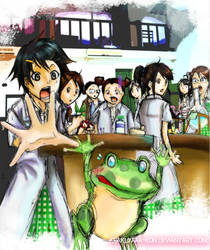 Mr.Frog : in science lab by krakuyaaa-kon