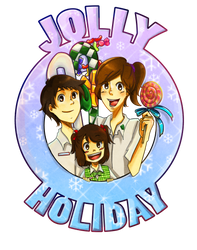 Jolly Holiday logo sample by krakuyaaa-kon