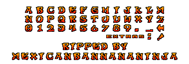 crash team racing font by mexicanbannananinja on deviantart