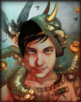 Frnk Iero: The Cannibal Glow by The-Divine-Fool