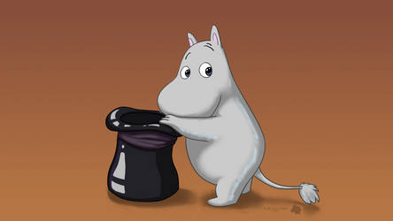 Moomin Wallpaper by FluffyBlueCow