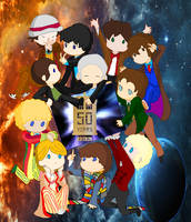 50 years of Doctor Who by vulcangirl14