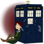 8th Doctor and TARDIS by vulcangirl14