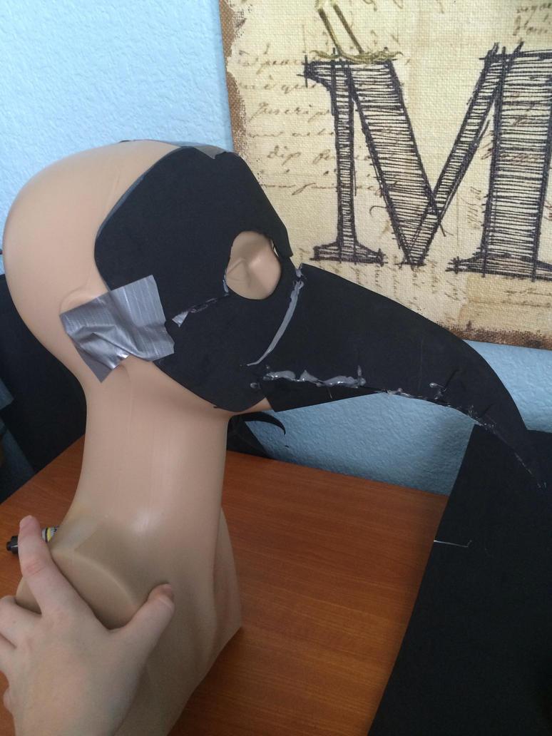 Plague mask WIP by Broadwinger